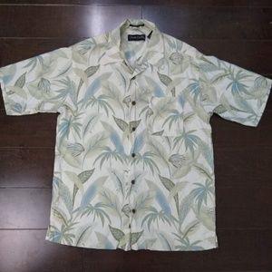 Ocean Pacific    Silk Button Down Hawaiian Shirt